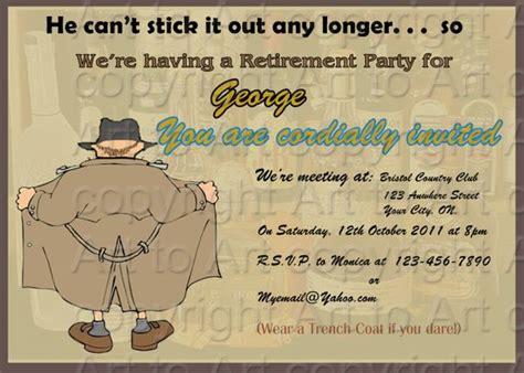 Retirement Party Invitation For Man 180 Personalized Digital Retirement Invitation Template