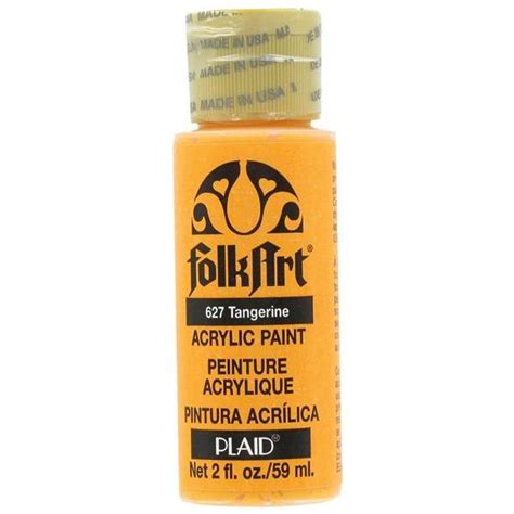 folk acrylic paint thinner plaid folk acrylic paint 627 tangerine 2 oz