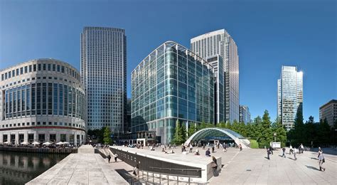 canary wharf canary wharf man hospitalised after falling from 32