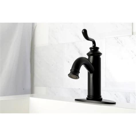 black bathroom sink faucet shop kingston brass concord matte black 1 handle single bathroom sink faucet at lowes