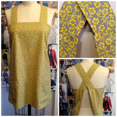 crossover back apron pattern easy to make back cross strap apron the daily sew