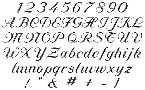 cursive letters az 5 line gt font styles for engraving projects to 1172
