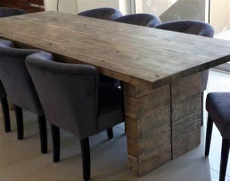 Solid Hardwood Dining Table Wood Furniture 2 Leg Dining Table