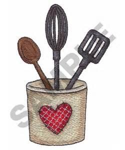 Kitchen Utensil Design Kitchen Utensils Embroidery Designs Embroidery Designs