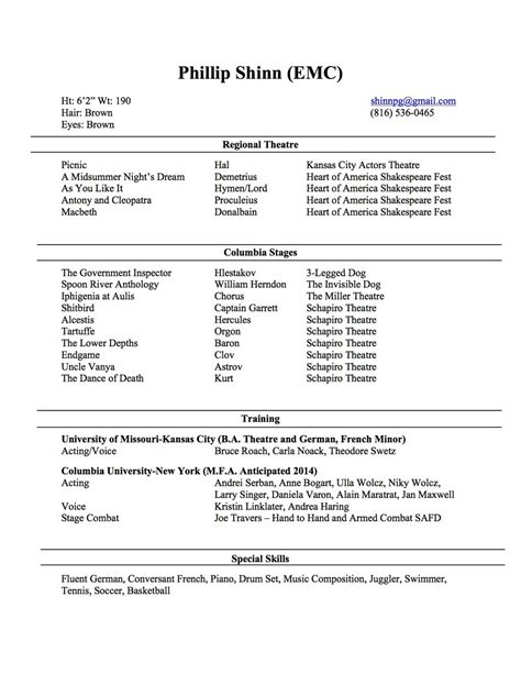 Mba Mfa Columbia by Columbia Resume Resume Ideas