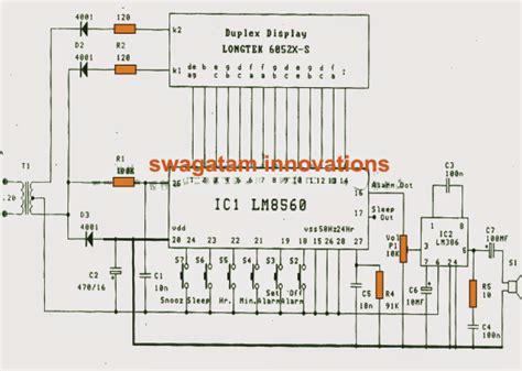simple digital clock circuit explained circuit diagrams free