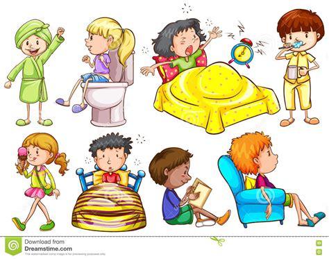 actividades de ninos en el dia ni 241 os que hacen diversas actividades ilustraci 243 n del