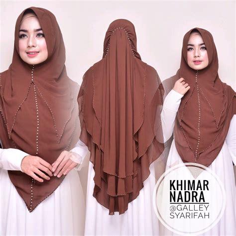 Khimar Kafhaya Embordir By Gallery Syarifah khimar nadra by gallery syarifah kerudung swarovsky ceruti 3 layer