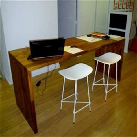 plan de travail bureau sur mesure flip design fabricant de plan de travail en bois massif