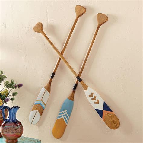 canoes and paddles wood decorative canoe paddles set of 3