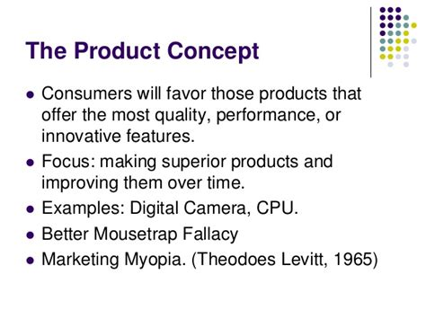 product concept template marketing concept
