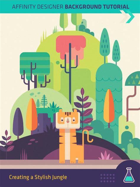 illustrator jungle tutorial the 25 best vector design ideas on pinterest flat