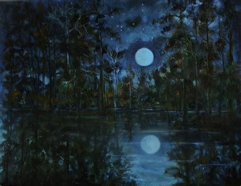 paint nite toledo starry at toledo bend painting by jody domingue