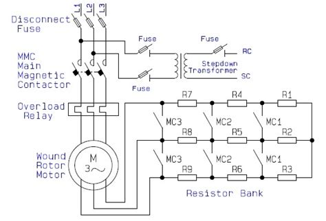 slip ring motor diagram guide to the power circuit and circuit of the
