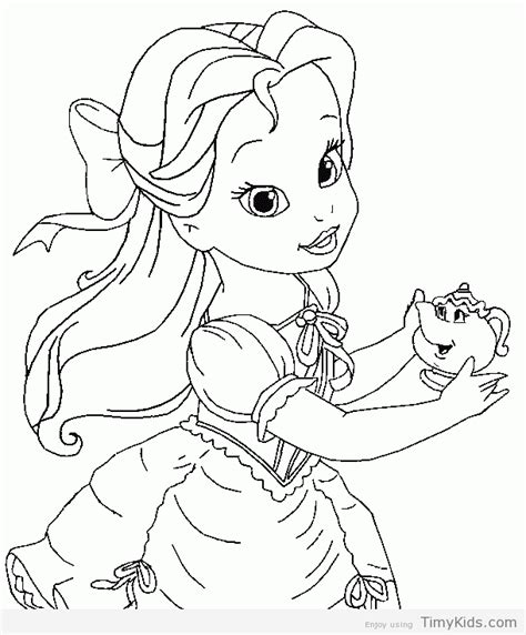 30 Princess Coloring Pages For Girls Timykids Baby Disney Princess Characters Coloring Pages