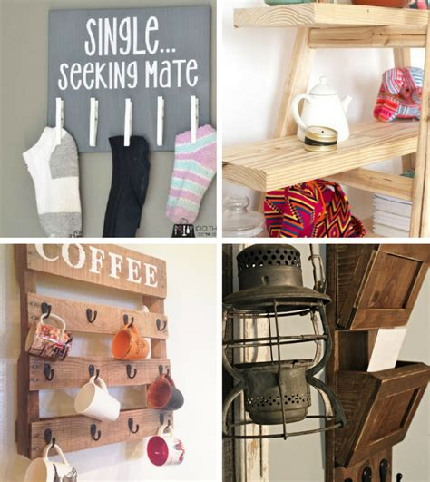 20 easy diy home projects house shelf holder organizer