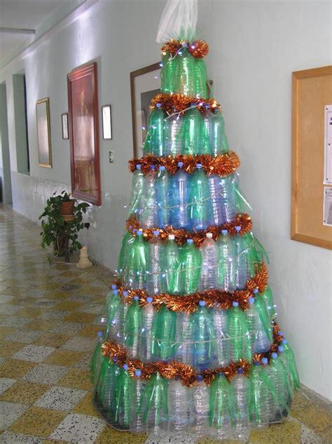 images of christmas tree using recycled materials reuse of plastic bottles għajnsielem primary school