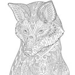Wolf Zentangle Outline by Zentangle Stylized Fox Stock Vector Image 76462706