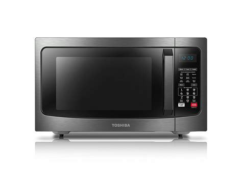 Microwave Toshiba toshiba ec042a5c bs convection microwave oven 1 5 cu ft black stainless steel