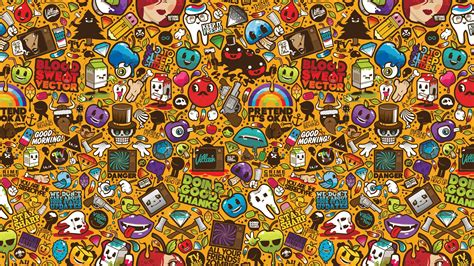 wallpaper stickers sticker bomb full hd papel de parede and background image