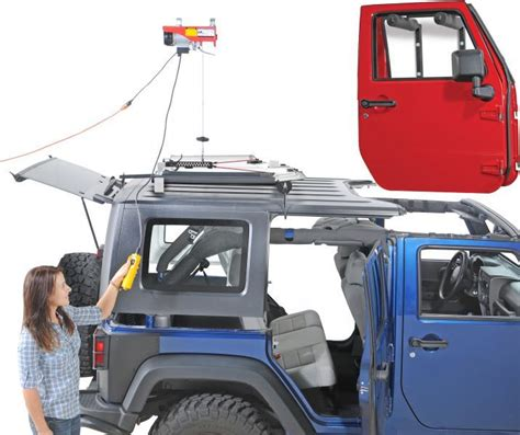 jeep wrangler top removal one person makes removing storing a hardtop an easy one person