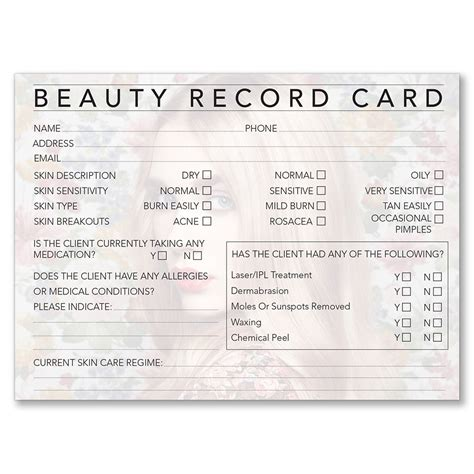 client record card template hairdressing dateline professional therapy record cards i