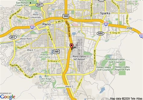 reno map reno airport map