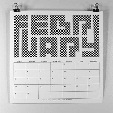 Cool Calendars 44 Calendars Created By Talented Designers