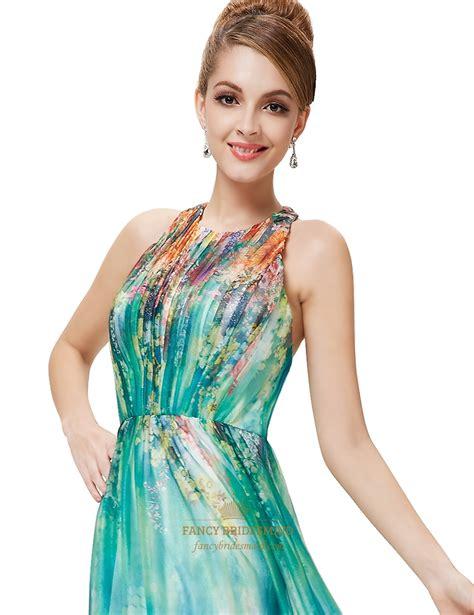 Sleeveless Floral Chiffon Dress green floral sleeveless print chiffon halter maxi dress