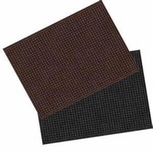 shop blue hawk rectangular door mat common 36 in x 48 in