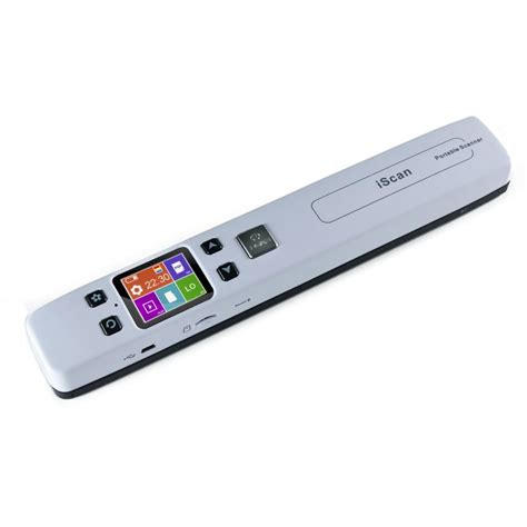 Wifi Portable Bandung portable color scanner 1050dpi with lcd screen wifi function iscan02 white