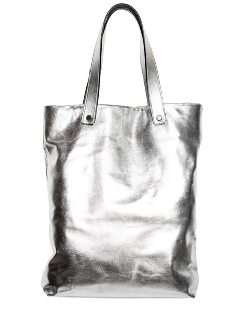 Loyd Maish Metallic Tote 2 by Lyst Karl Lagerfeld Metallic Leather Alphabet Tote In