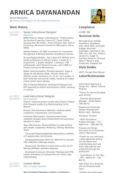 instructional designer resume best resume collection