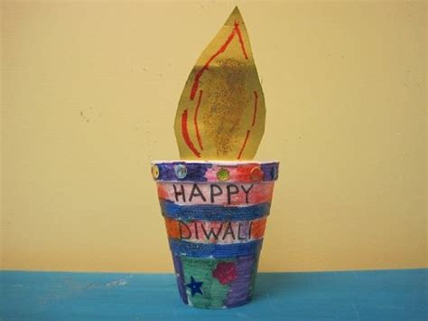 Diwali Paper Craft - diwali diya craft paper quot quot in plant pot classroom