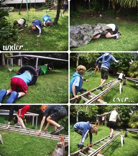 Easy Backyard Obstacle Course Mr G Created The Obstacle Course And Did A Fab Job Using