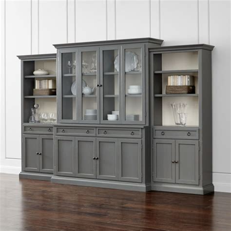 wall bookcases with doors cameo 4 modular grey glass door wall unit with