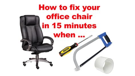 how to fix a sinking office chair how to fix your office chair in 15 minutes when pneumatic