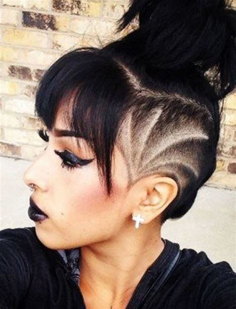 undercut hairstyles black hair undercut hairstyle ideas with shapes for women s hair in