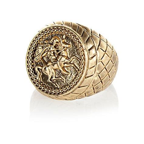 gold tone sovereign ring rings jewelry