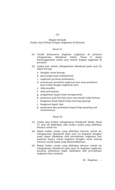 Undang Undang Ri No 17 Tahun 2008 Tentang Pelayaran undang undang no 17 tahun 2008 tentang pelayaran