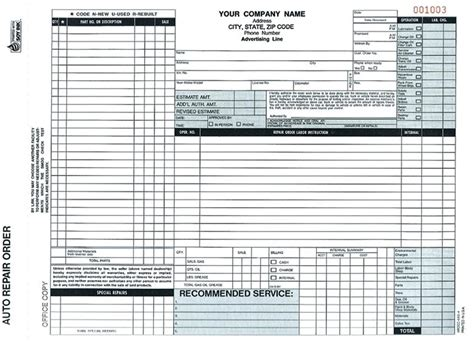 automotive repair work order template inspirational auto repair invoice forms pics free
