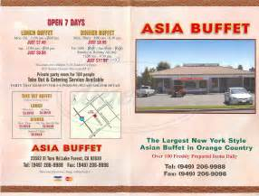 asia buffet prices asia buffet menu lake forest dineries
