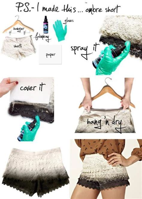 How To Make Ombre Paper - d i y ombre shorts paperblog