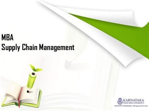 Mba Supply by Mba In Supply Chain Management