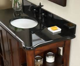 Granite Top Vanity Bathroom by Antique Wyncote 48 Inch Bathroom Vanity Black Granite