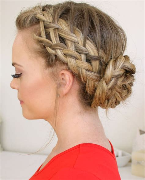 pageant buns awesome braided bun for prom full dose