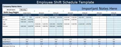 shift schedule template excel employee shift schedule template projectemplates