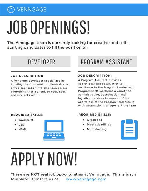 job opening flyer template www pixshark com images