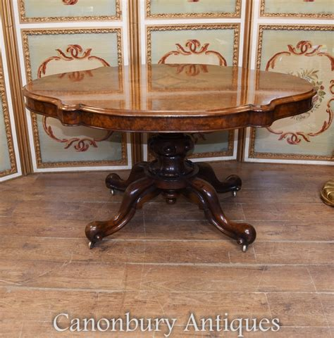 victorian dining table walnut centre tables