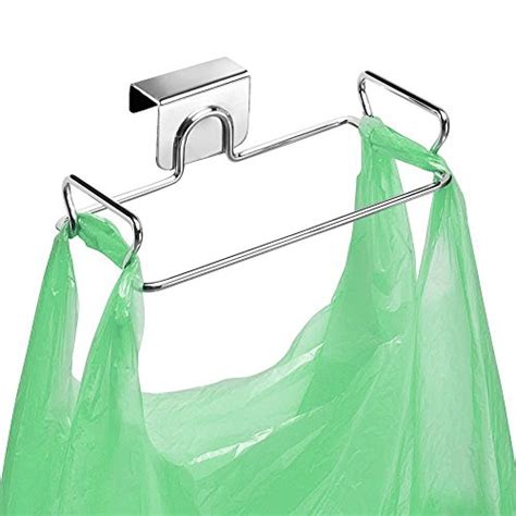 door trash bag holder large stainless steel trash bag holder for kitchen